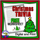 FREE Christmas Trivia Sheet w/ Easel Activity Distance Learning