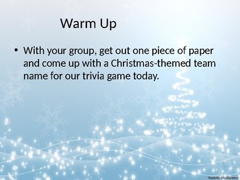 Christmas Trivia Spectacular (Editable)