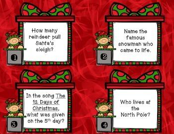 Christmas Trivia Task Cards
