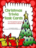 Christmas Trivia Task Cards FREEBIE