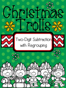 Christmas Trolls Subtraction with Regrouping