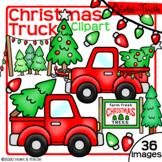 Christmas Truck Clipart {Christmas Tree Farm} Vintage