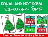 Christmas True or False Math Game (Equal or not equal)