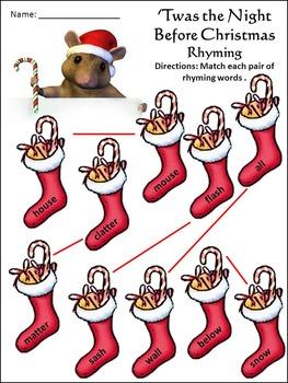 Christmas Activities: Night Before Christmas Language Arts Activity Packet