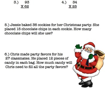 Christmas Two-Digit Multiplication