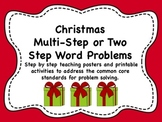 Christmas Two Part or Multi-Step Word Problems