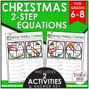Christmas Two-Step Equation Activity
