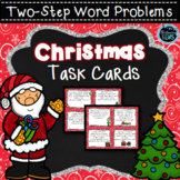 Christmas Two-Step Word Problem Task Cards | Christmas Mat