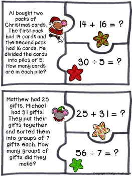 Christmas Two-Step Word Problems