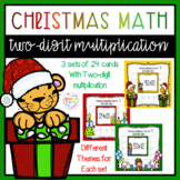 Christmas Two-digit Multiplication Task Cards