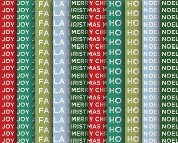 Christmas Typography Papers Set #127