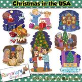 Christmas Around the World Clip art USA