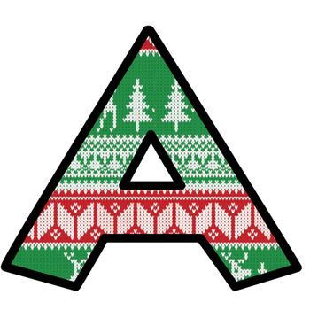 Christmas Ugly Sweater Bulletin Board Letters and Numbers Clip Art #1