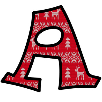 Christmas Ugly Sweater Bulletin Board Letters and Numbers Clip Art #2