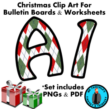 Christmas Ugly Sweater  Bulletin Board Letters and Numbers Clip Art #4