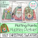 Christmas Math Activity - Ugly Sweaters Plotting Points - Mystery Picture