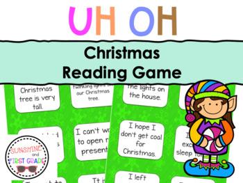 Christmas Uh Oh Sentence Game