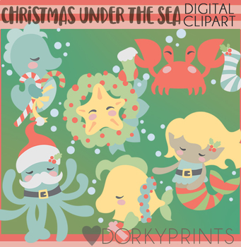 Christmas Under the Sea Clipart