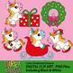 Christmas Unicorn Clipart