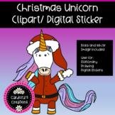 Christmas Unicorn Clip Art