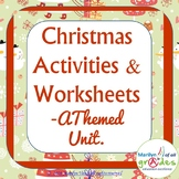 Christmas Activities. Poems, Projects, Holiday Worksheets