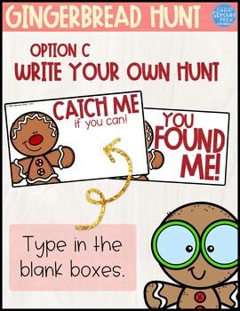 Gingerbread Man Hunt - Christmas Fun - Freebie - PreK, Kindergarten, Preschool
