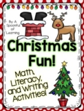 Christmas! Math, Literacy, & Writing Activities!