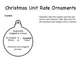 Christmas Unit Rate Ornament Activity