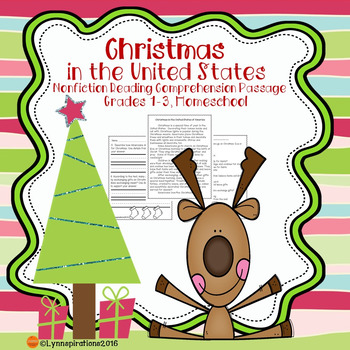 Christmas United States : Non-fiction Reading Comprehensio