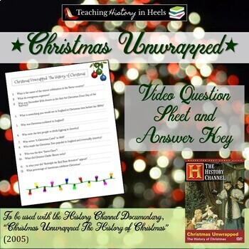 Christmas Origins.Christmas Unwrapped The History Of Christmas Video Sheet