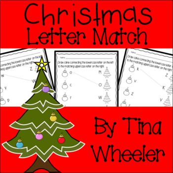 Christmas Uppercase and Lowercase Letter Match