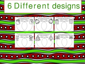Christmas Venn Diagram Compare and Contrast Worksheet pack