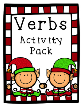 Christmas Verb Activity Pack - Task Cards and More