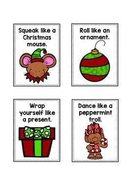 Christmas Verb Charades