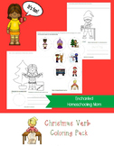 Christmas Verb Coloring Pack