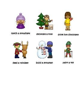 Christmas Verb Sort Infinitive-Tense Pack
