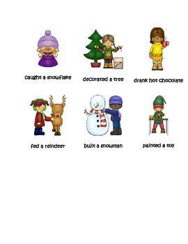 Christmas Verb Sort Past-Tense Pack