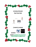 Christmas Verb Sort Past-Tense Pack