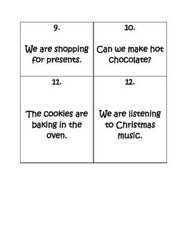 Christmas Verb Task Cards
