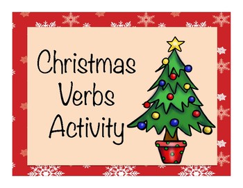 Christmas Verbs Activity