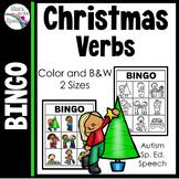 Christmas Verbs Bingo (Christmas Action Words Bingo)