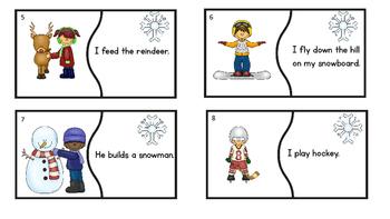 Winter Verbs  Literacy Center Idea