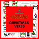 Christmas Verbs: Past & Present Tense | Speech Therapy | Regular & Irregular