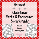 Christmas Verbs & Pronouns Smash Mats | FREEBIE!
