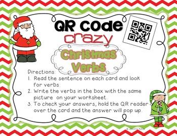 Christmas Verbs QR Code Center