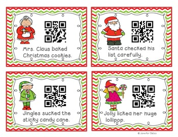Christmas Verbs QR Code Center