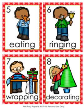 Christmas Verbs Write The Room Activity