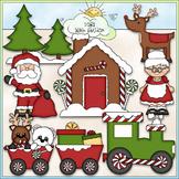 Christmas Village Clip Art - Santa Claus Clip Art - CU Cli
