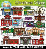 Christmas Village Community Buildings Clipart {Zip-A-Dee-Doo-Dah Designs}