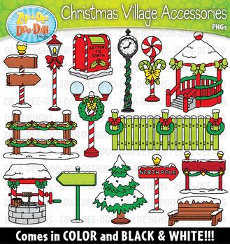 Christmas Village Winter Accessories Clipart {Zip-A-Dee ...